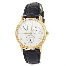 Vacheron Constantin Patrimony 18k Yellow Gold Auto Silver Men's Watch 47200/1