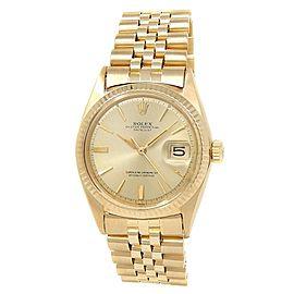 Rolex Datejust 18k Yellow Gold Jubilee Automatic Champagne Men's Watch 1601