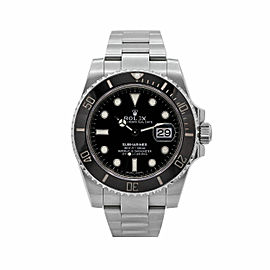 Men's Rolex Submariner Date, 40mm Steel, Black dial, Ceramic Bezel, 116610LN