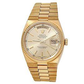 Rolex Day-Date 18k Yellow Gold Oysterquartz Quartz Champagne Men's Watch 19018N