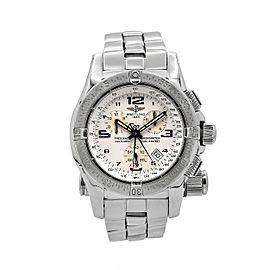 Men's Breitling Emergency Mission 45, Stainless Steel, White dial, A7332111-A557