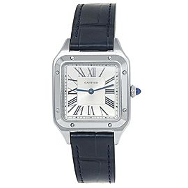 Cartier Santos Dumont Stainless Steel Quartz Silver Ladies Watch WSSA0023