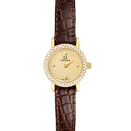Omega DeVille Yellow Gold Diamond Cocktail Ladies Watch 1450
