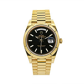Men's Rolex Day-Date 40 Presidential 18k Yellow Gold, Black Index Dial, 228238