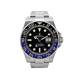 Men's Rolex GMT-Master II Batman, 40mm, Stainless Steel, Black dial, 116710BLNR