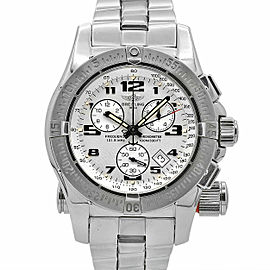 Men's Breitling Emergency Mission 45mm, Steel Watch, Ivory dial, A7332211-G616