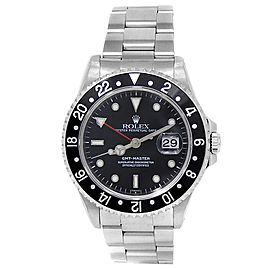 Rolex GMT-Master Stainless Steel Oyster Automatic Black Men's Watch 16700
