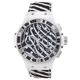 Hublot Big Bang Ceramic Calfskin Rubber Zebra Men's Watch 341.HW.7517.VR.1975