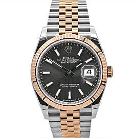 Men's Rolex Datejust 36, Steel ,18k Everose Gold, Dark rhodium dial, 126231-0013