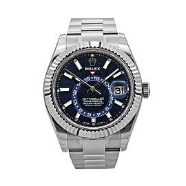 Men's Rolex Sky-Dweller, 42mm Stainless Steel, 18k white gold, Blue Dial, 326934