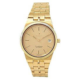 Omega Constellation 18k Yellow Gold Automatic Champagne Men's Watch