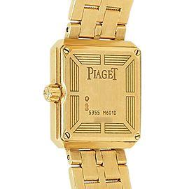 Piaget Protocole 18k Yellow Gold Diamonds Champagne Ladies Watch 5355 M601D