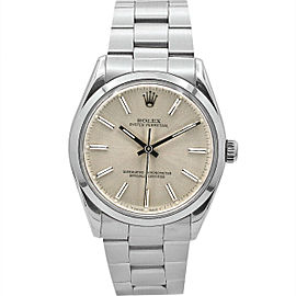Rolex Oyster Perpetual 34, Stainless Steel, Silver Stick Dial, 1002