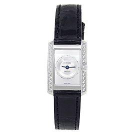 Concord Delirium 18k White Gold Diamond Quartz Silver Ladies Watch 61.C1.1420.1