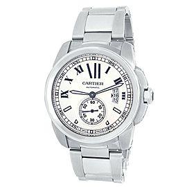 Cartier Calibre de Cartier Stainless Steel Automatic Silver Men's Watch W7100015