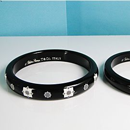 Tiffany & Co. Zellige Resin Lacquer Bangles (2) Italy- Med- Beautiful