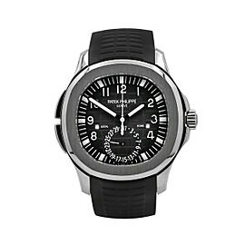 Men's Patek Philippe Aquanaut Travel Time 40.8, Steel, Black dial, 5164A-001