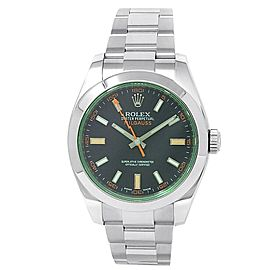 Rolex Milgauss Stainless Steel Oyster Automatic Green Men's Watch 116400GV
