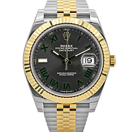 Men's Rolex Datejust 41, Stainless Steel and 18k Yellow Gold, Slate dial, 126333