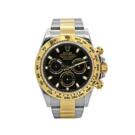Men's Rolex Cosmograph Daytona 40, Steel,18k Yellow Gold, Black Dial, 116503