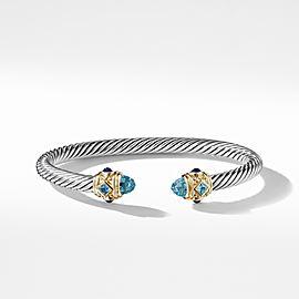 David Yurman Renaissance Bracelet with Blue Topaz, Lapis Lazuli & 14K Gold,5mm