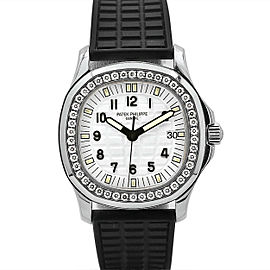 Ladies Patek Philippe Aquanaut 35.6mm, Stainless Steel, White dial, 5067A-011