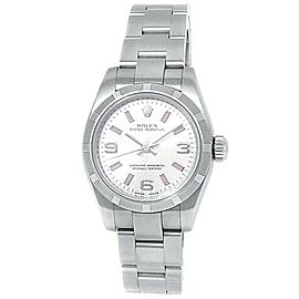 Rolex Oyster Perpetual Stainless Steel Oyster Silver Ladies Watch 176210