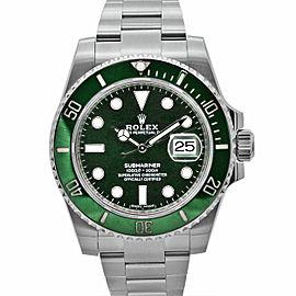 Men's Rolex Submariner Hulk 40, Stainless Steel, Green dial, 116610LV