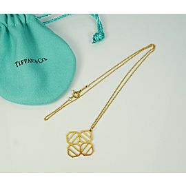 Tiffany & Co. Paloma Picasso Zellige 18K Necklace Pendant 16 Inches