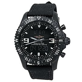 Breitling Chronospace Military Stainless Steel Digital Black Men's Watch M78367
