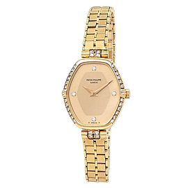 Patek Philippe Vintage 18k Yellow Gold Diamonds Champagne Ladies Watch 4516
