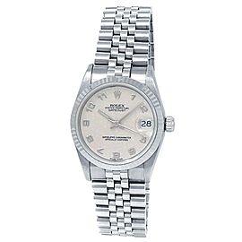 Rolex Datejust 18k White Gold President Auto White Jubilee Midsize Watch 68279