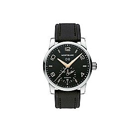 MONTBLANC TIMEWALKER 43 mm BLACK DIAL DUAL TIME AUTOMATIC WATCH 110465 NEW BOX