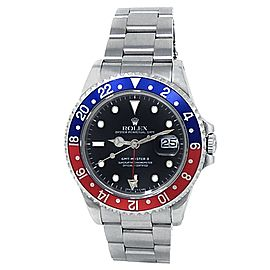Rolex GMT-Master II Pepsi Stainless Steel Oyster Auto Black Men's Watch 16710