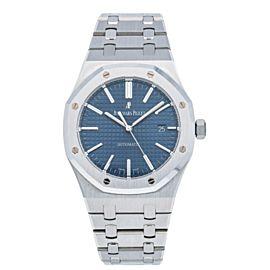 Audemars Piguet Royal Oak Blue Stainless Steel Watch