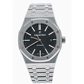 Audemars Piguet Royal Oak Black Dial Stainless Steel Watch