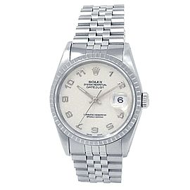 Rolex Datejust Stainless Steel Jubilee Auto Silver Jubilee Men's Watch 16220