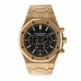 Audemars Piguet Royal Oak 18K Rose Gold Chronograph Men's Watch 41mm
