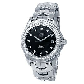 Tag Heuer Link Stainless Steel Quartz Diamonds Black Men's Watch WJ1117.BA0575