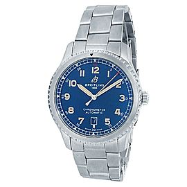 Breitling Aviator 8 Stainless Steel Automatic Blue Men's Watch A17315