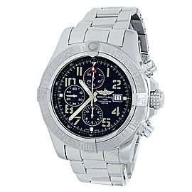 Breitling Super Avenger II Stainless Steel Automatic Black Men's Watch A13371
