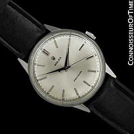 1953 Rolex Precision Vintage Full Size Stainless Steel Dress Watch - Warranty