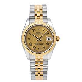 ROLEX DATEJUST MIDSIZE 178273 31MM CHAMPAGNE DIAL WITH TWO TONE JUBILEE BRACELET