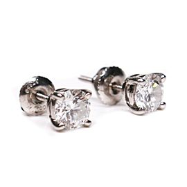 Tiffany - Diamond Earrings - 1.20 TCW Round Platinum Stud 950 - 5 mm