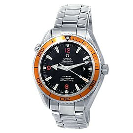 Omega Seamaster Planet Ocean Stainless Steel Auto Black Men's Watch 2208.50.00