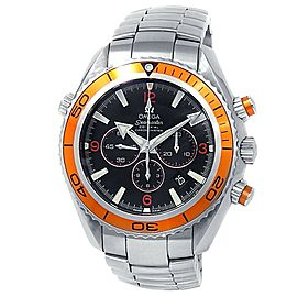 Omega Seamaster Planet Ocean Stainless Steel Auto Black Men's Watch 2218.50.00