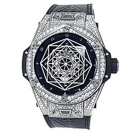 Hublot Big Bang Sand Bleu Titanium Diamond Black Watch