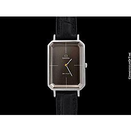 "1973 OMEGA De Ville Mens Midsize ""Emerald"" Modern Watch By Andrew Grima"