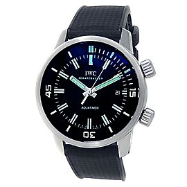 IWC Aquatimer Stainless Steel Black Rubber Automatic Black Men's Watch IW323101