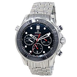 Omega Seamaster Stainless Steel Automatic Black Men's Watch 212.30.44.50.01.001
